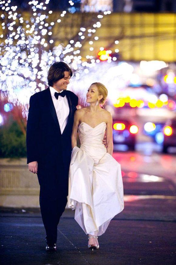 Una boda en invierno: azul, blanco y dorado