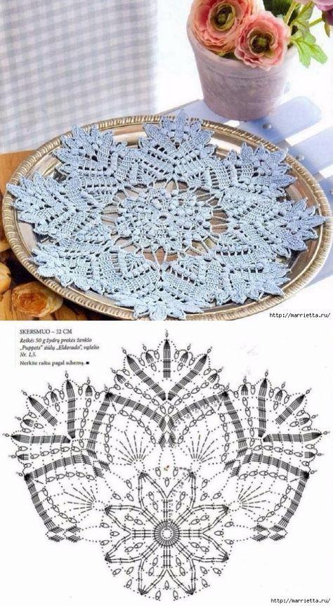 Beautiful Crochet Doily♥ Deniz #crochetdoilies