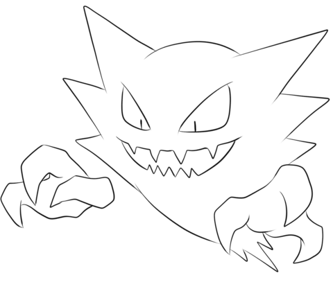 Haunter Coloring Page Pokemon Coloring Pages Pokemon Coloring Coloring Pages