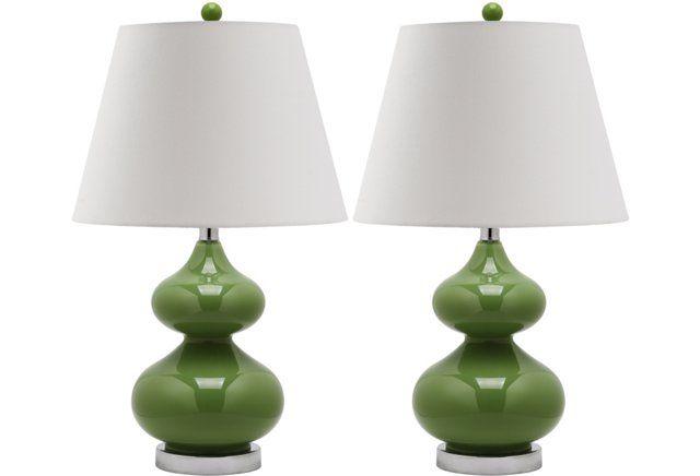 Bethany Table Lamp Set Fern Green Table Lamp Sets Lamp Sets Energy Efficient Light Bulbs