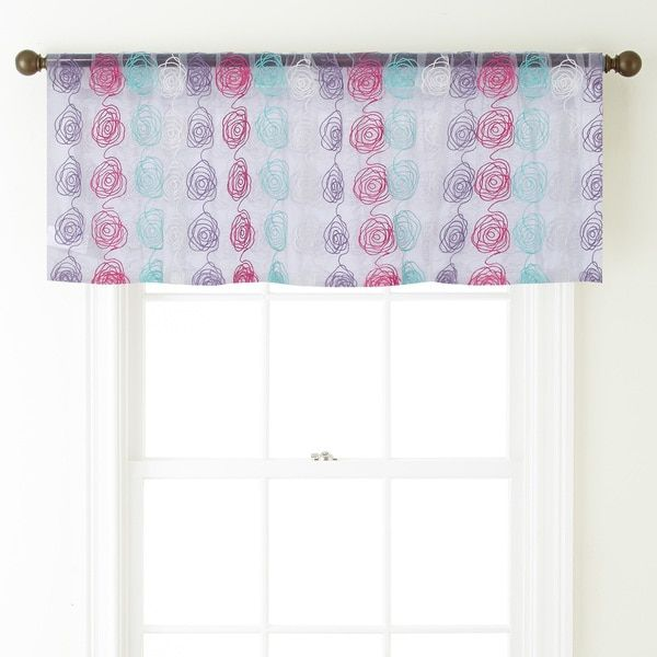 Cleo 54 Inch Wide Rod Pocket Window Valance