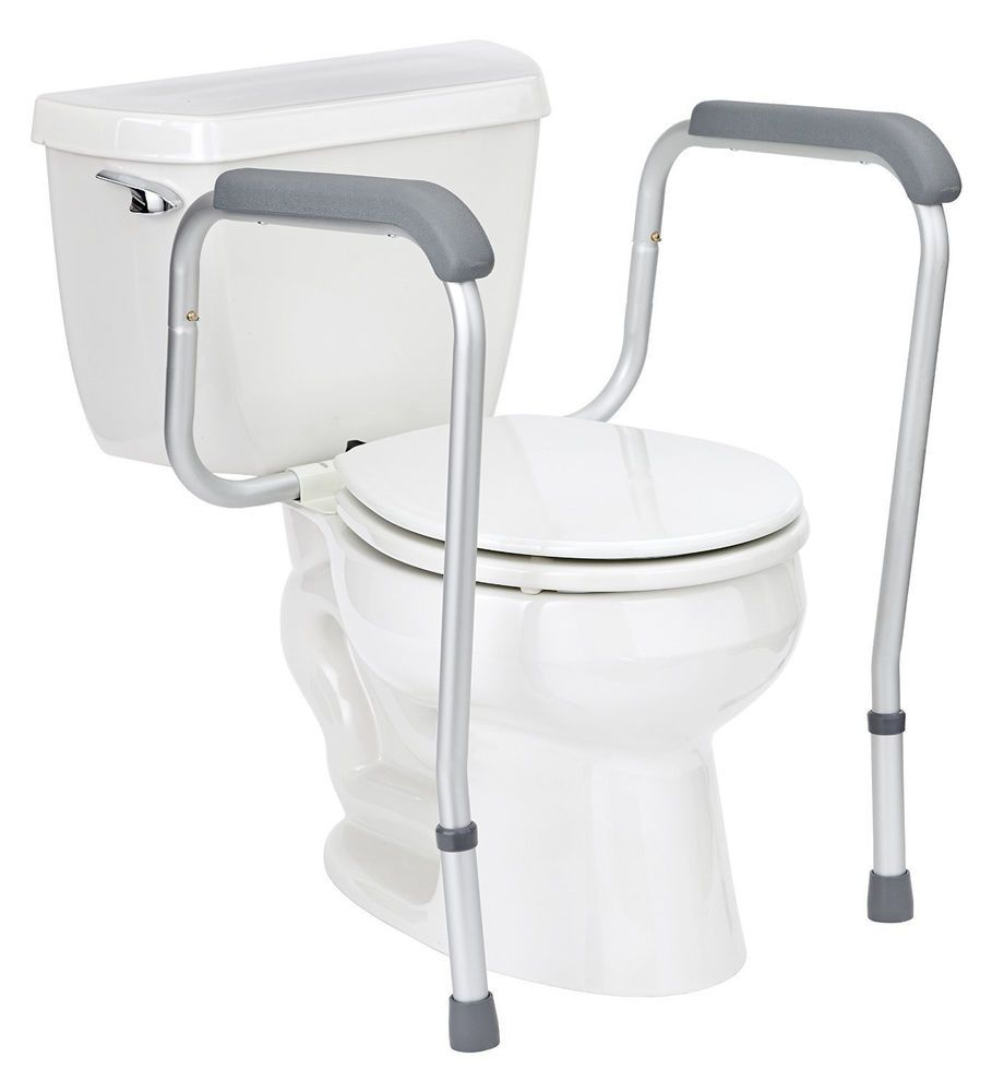 Handicap Grab Bars Toilet Safety Rail Adjustable Seat Assist