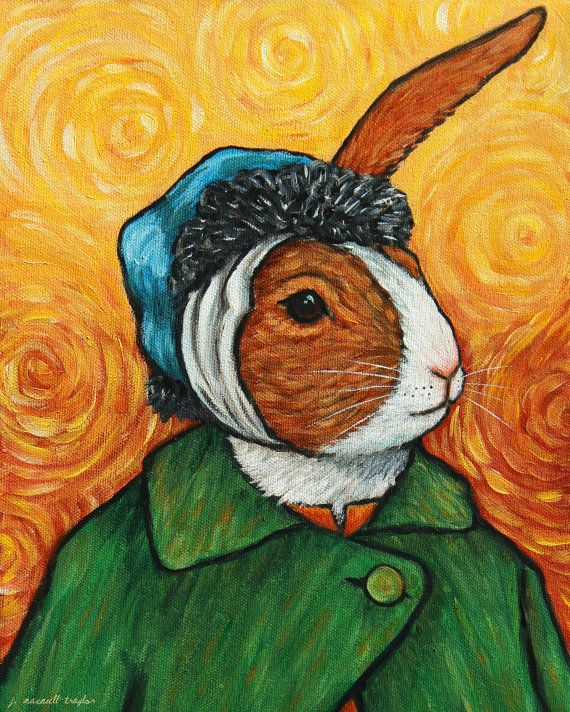 the dutch rabbit vincent van gogh inspired art print animal art pinterest konstn rer och. Black Bedroom Furniture Sets. Home Design Ideas