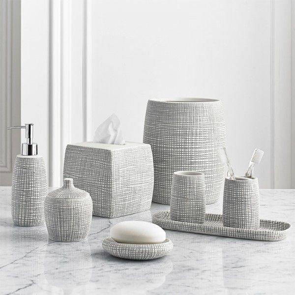 bathroom countertop accessories sets. Kassatex Raffia Bath Accessories  Gracious Home bath accessories Pinterest