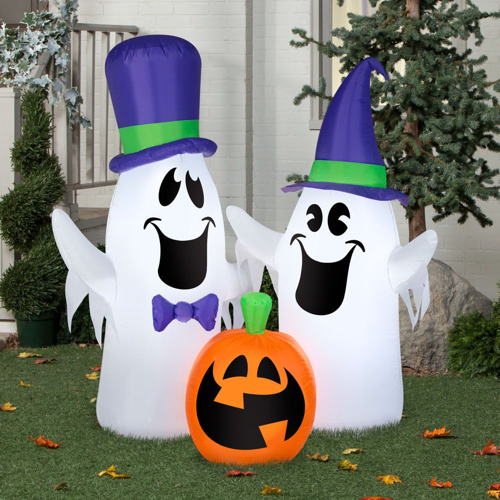 Outdoor Airblown Halloween Decoration Inflatable Ghosts and Pumpkin - Halloween Ghost Decorations