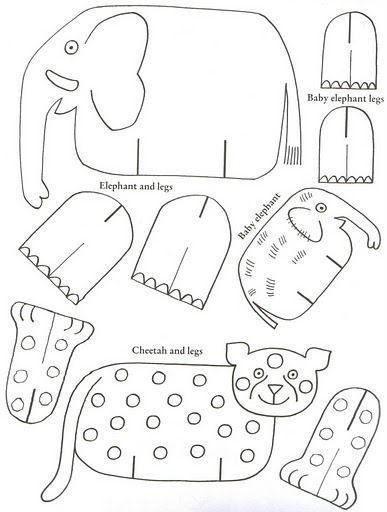 Cantinho Alternativo Animais Para Imprimir e Montar animais - elephant cut out template