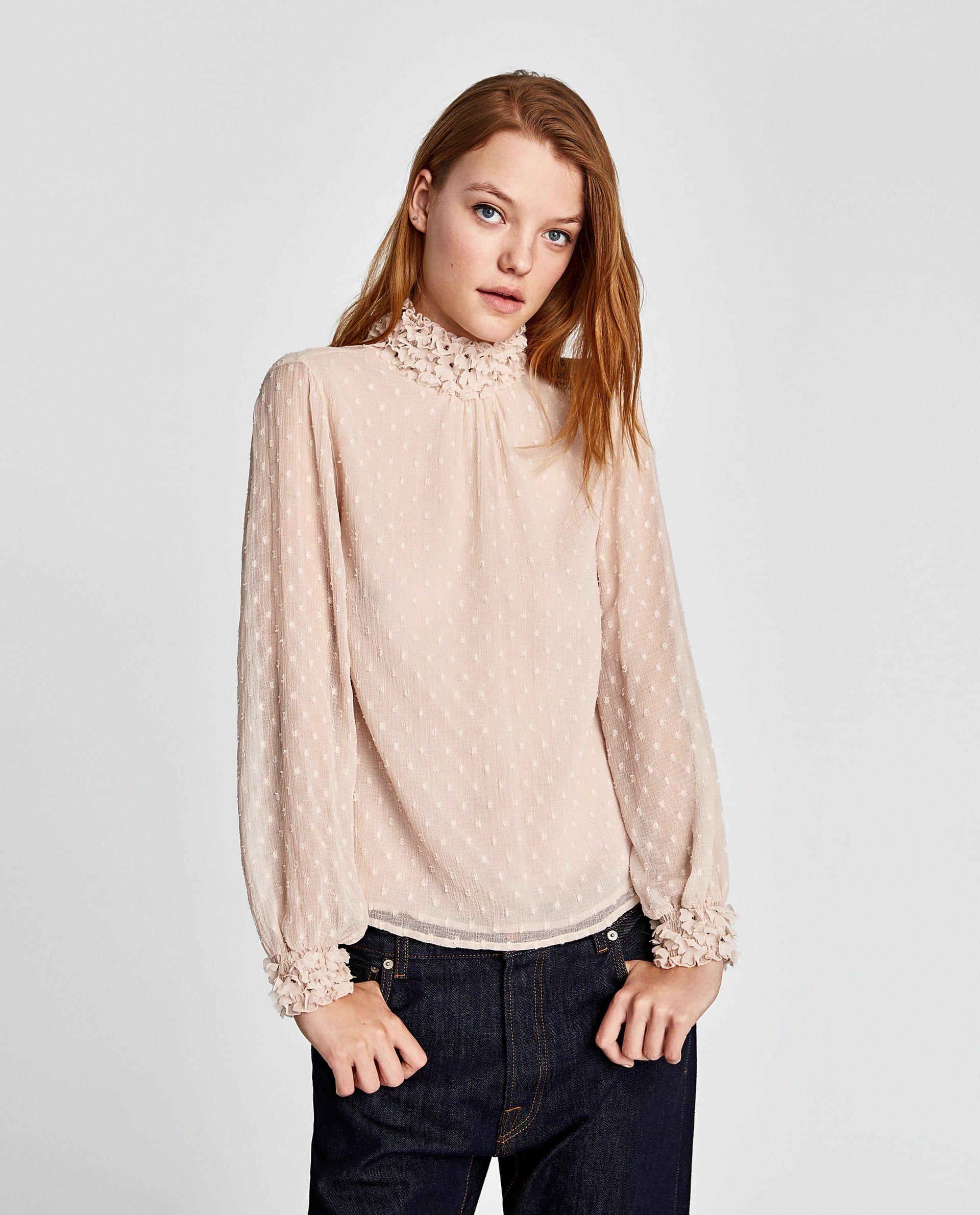 5101ef3748 FLORAL DOTTED MESH TOP | w a r d r o b e | Fashion, Tops, Shirt blouses