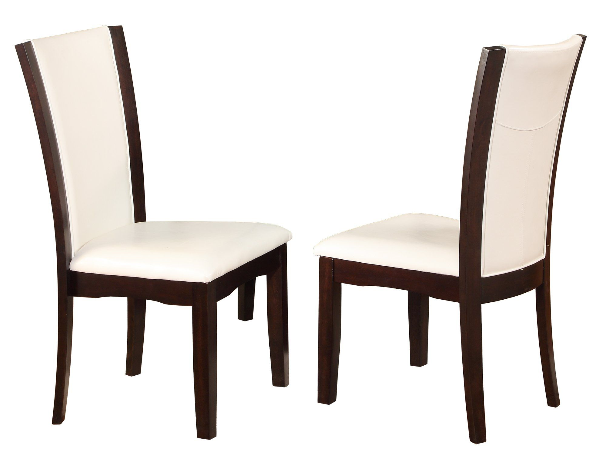 Crown Mark Camelia Side Chair White Set Of 2 See This