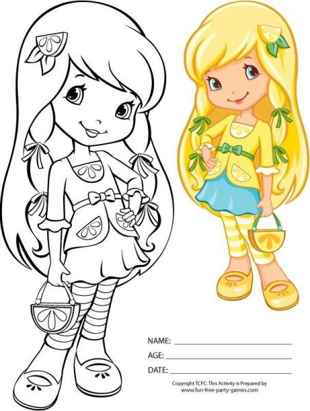 Strawberry Shortcake Girls Kids Coloring Pages Easter Coloring Page ...