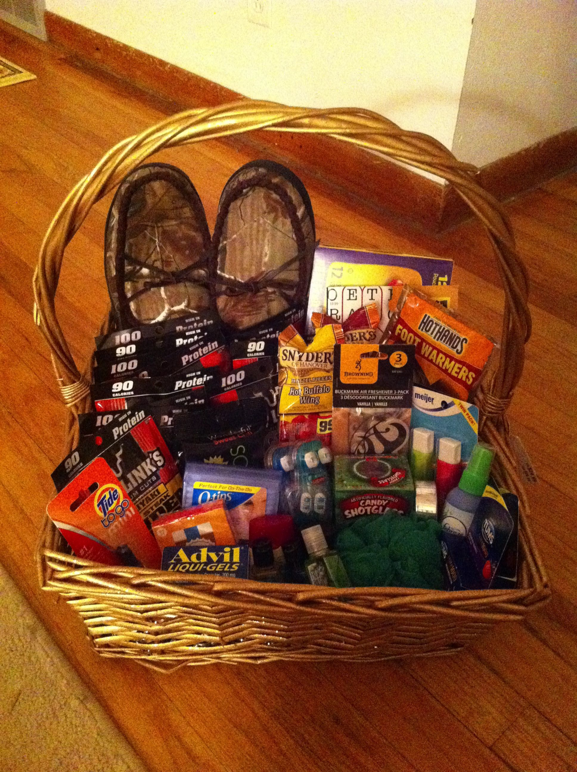 gift basket for a truck driver or boyfriend, all the