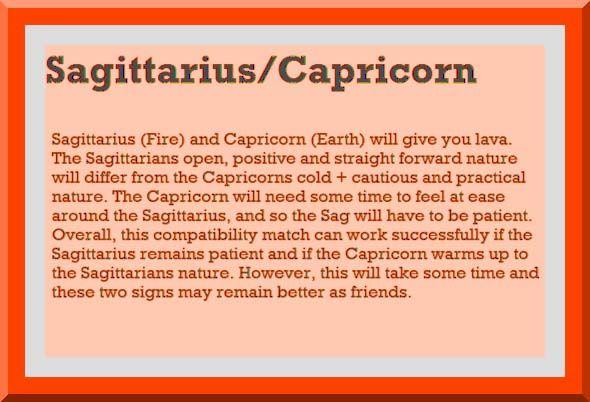 Sagittarius compatibility with capricorn
