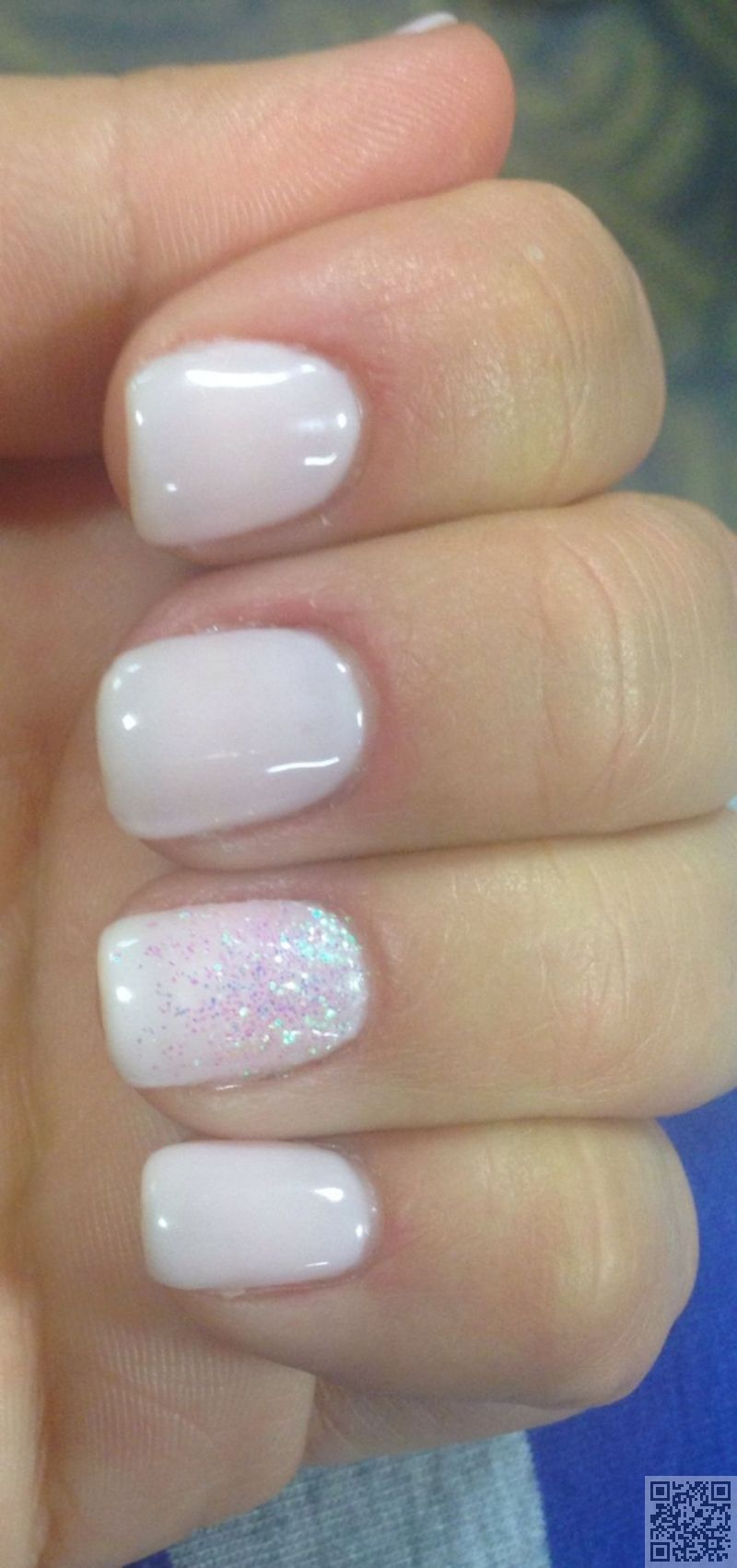 16. Soft #White Color - White Hot #Nails for #Summertime ...