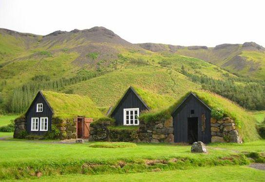 Casas césped de Islandia, las primeras cubiertas verdes | Arquitectura