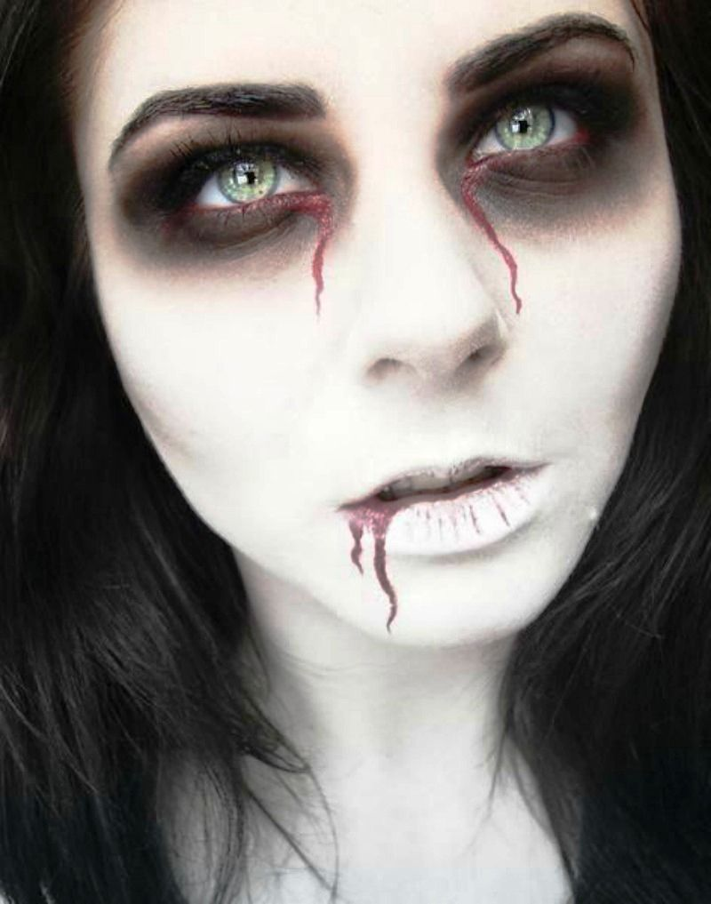 Halloween Makeup Easy Scary.40 Scary Halloween Makeup Ideas For Women Customs Ideas Unique