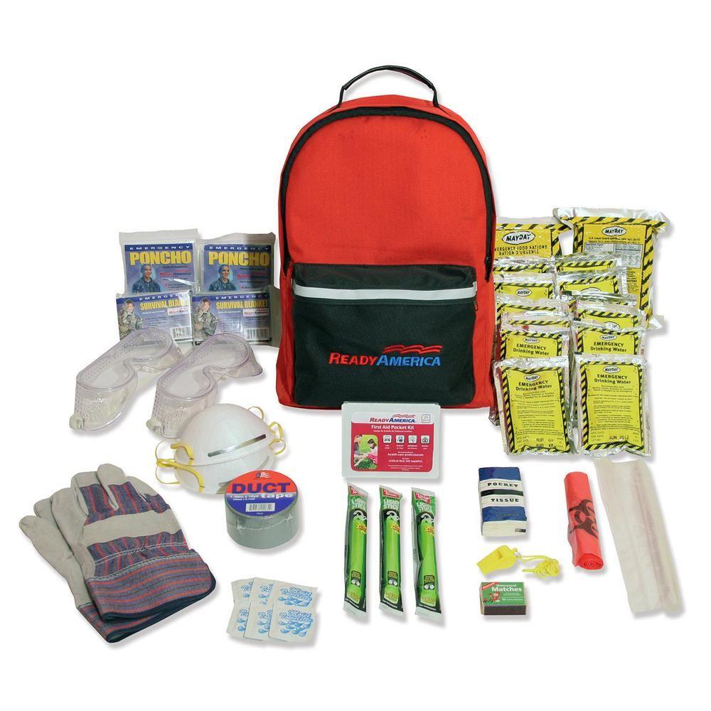 Ready America 2 Person 3 Day Hurricane Emergency Kit Backpack In 2020 Tornado Survival Hurricane Emergency Kit Tornado Kits