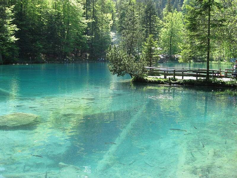 blausee schweiz 743 kandersteg winter
