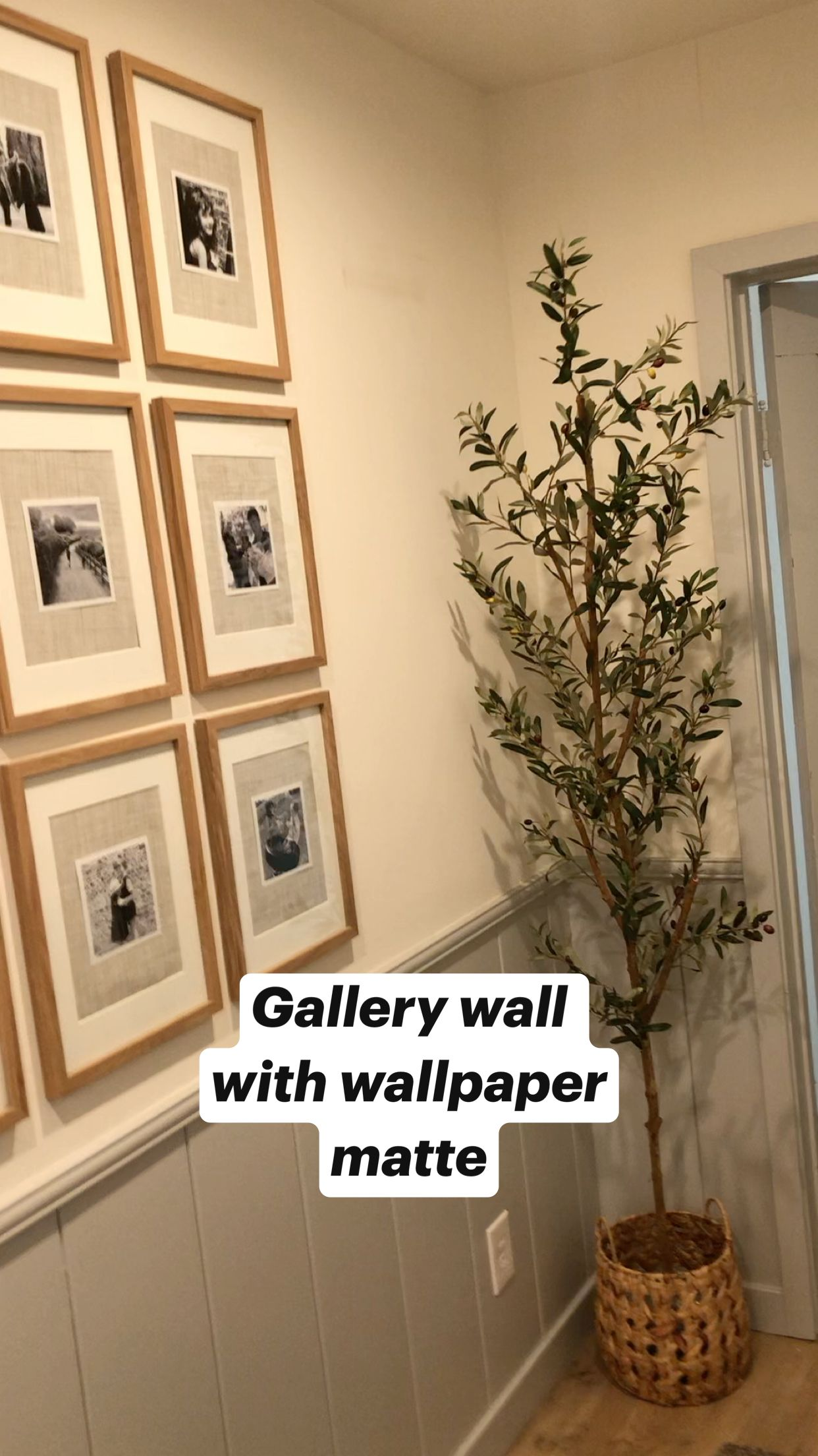 Photo of Gallery wall with wallpaper matte