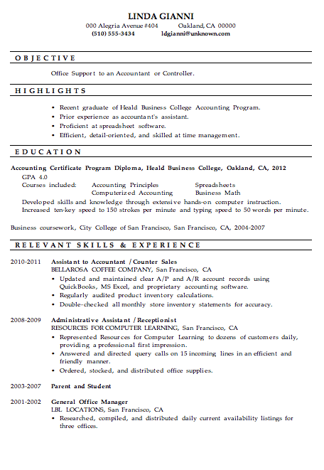 Sample Assistant Controller Resume Http Www Resumecareer Info Sample Assistant Controller Resume Accountant Resume Resume Examples Resume Skills