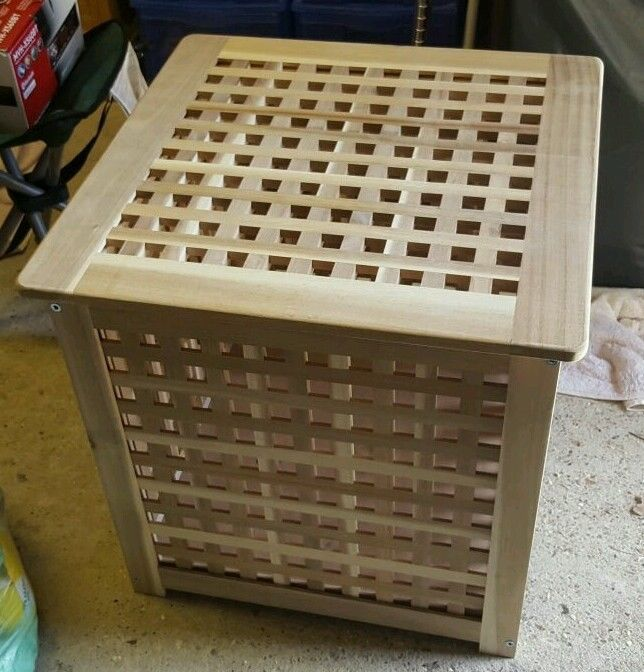 IKEA HOL WOODEN STORAGE BOX U2013 LAUNDRY BASKET U2013 SIDE TABLE U2022 Solid Acacia