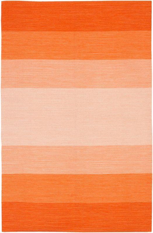 Chandra Rugs India  Wide Stripe Orange Rug