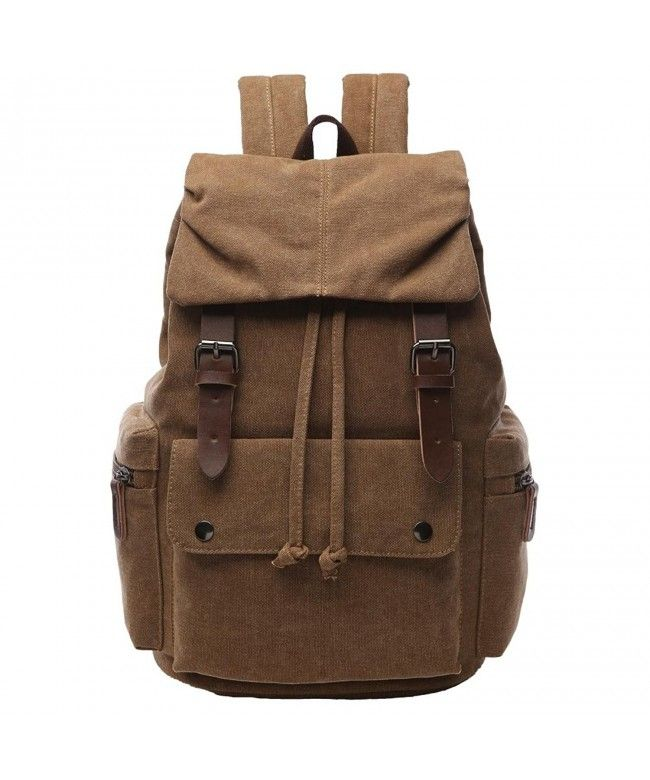 6fb7626132 Vintage Canvas Backpack for School Casual Rucksack Travel Bag for Men -  Coffee - CC187EDXG46  Bags  handbags  gifts  Style  Backpacks