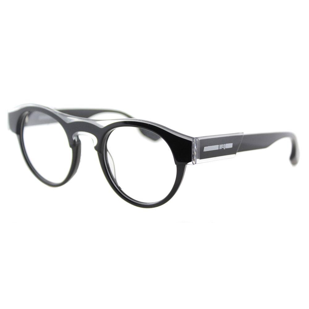 Alexander McQueen McQ MQ 0005O 001 Crystal Round 45mm Eyeglasses