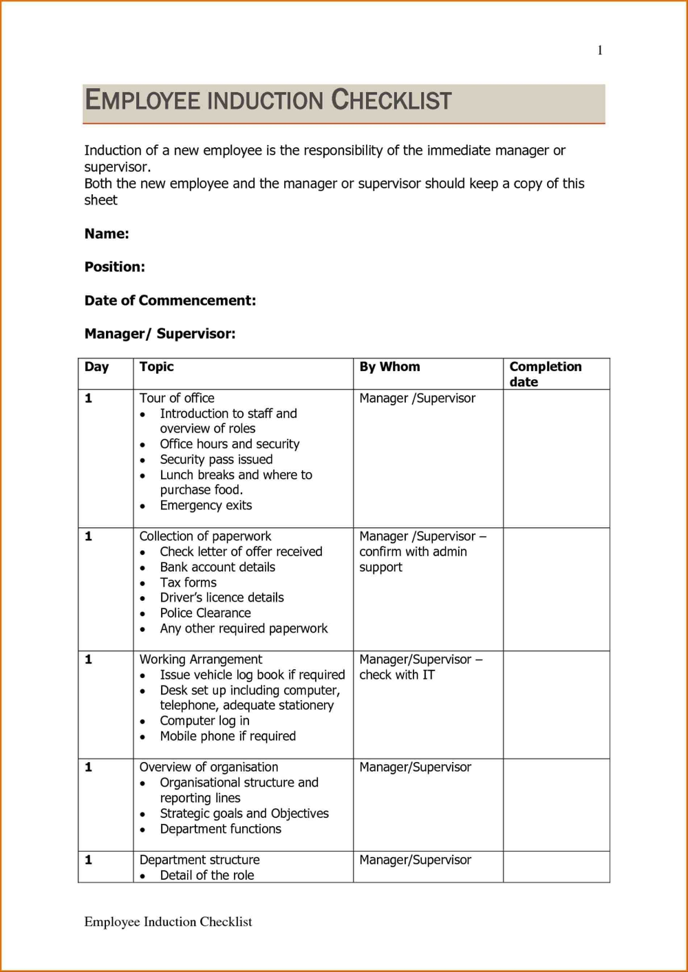 Template Ideas Training Manual Word Employee Safety Free