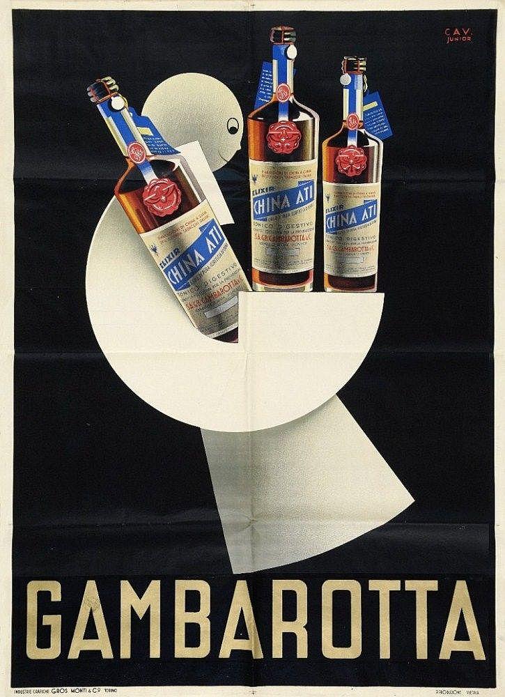 Gambarotta - 1935 - (Cavadini) - | ~ Ads for alcoholic beverages ...