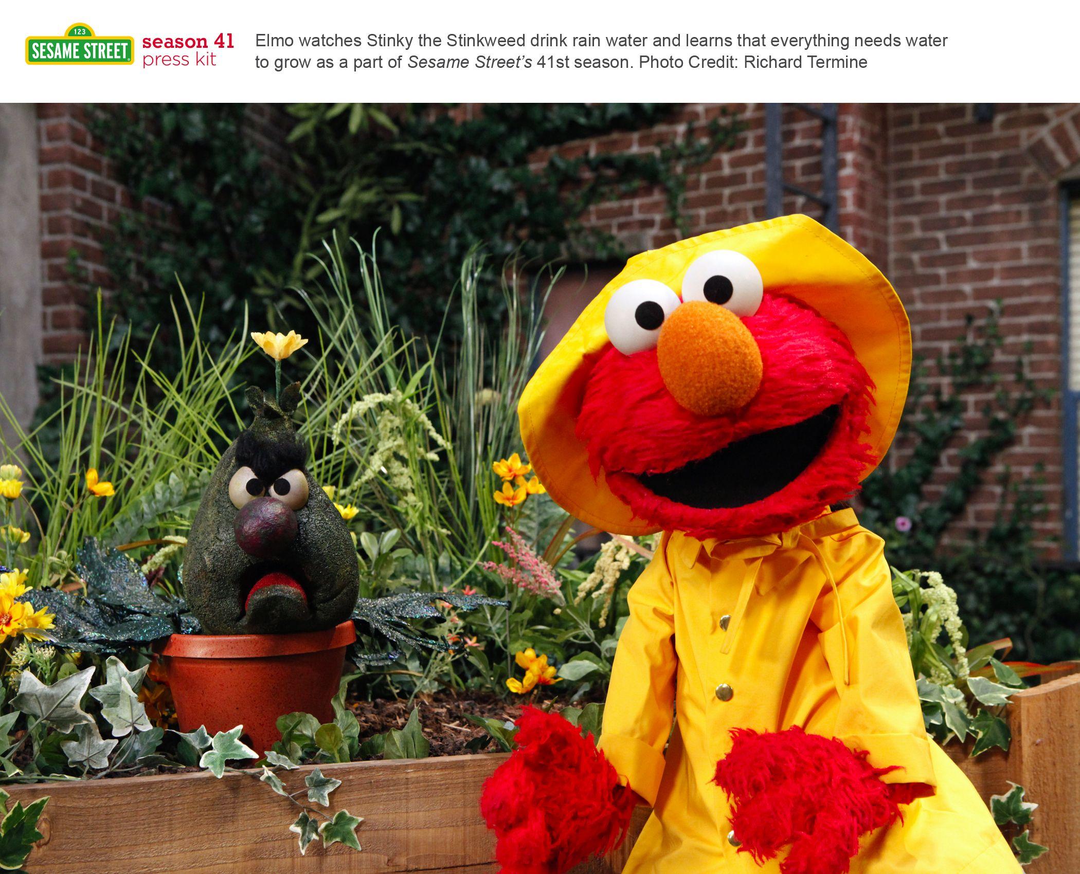 Elmo and Stinky the plant  | Sesame Street kids character shirts