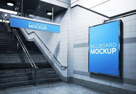 Subway Advertising Mock Ups Templates Premium Download Template Periklanan Desain