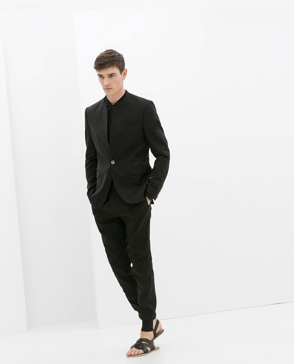 4f73a159 BLAZER WITH NO LAPEL from Zara | Black Obsession in 2019 | Blazers ...