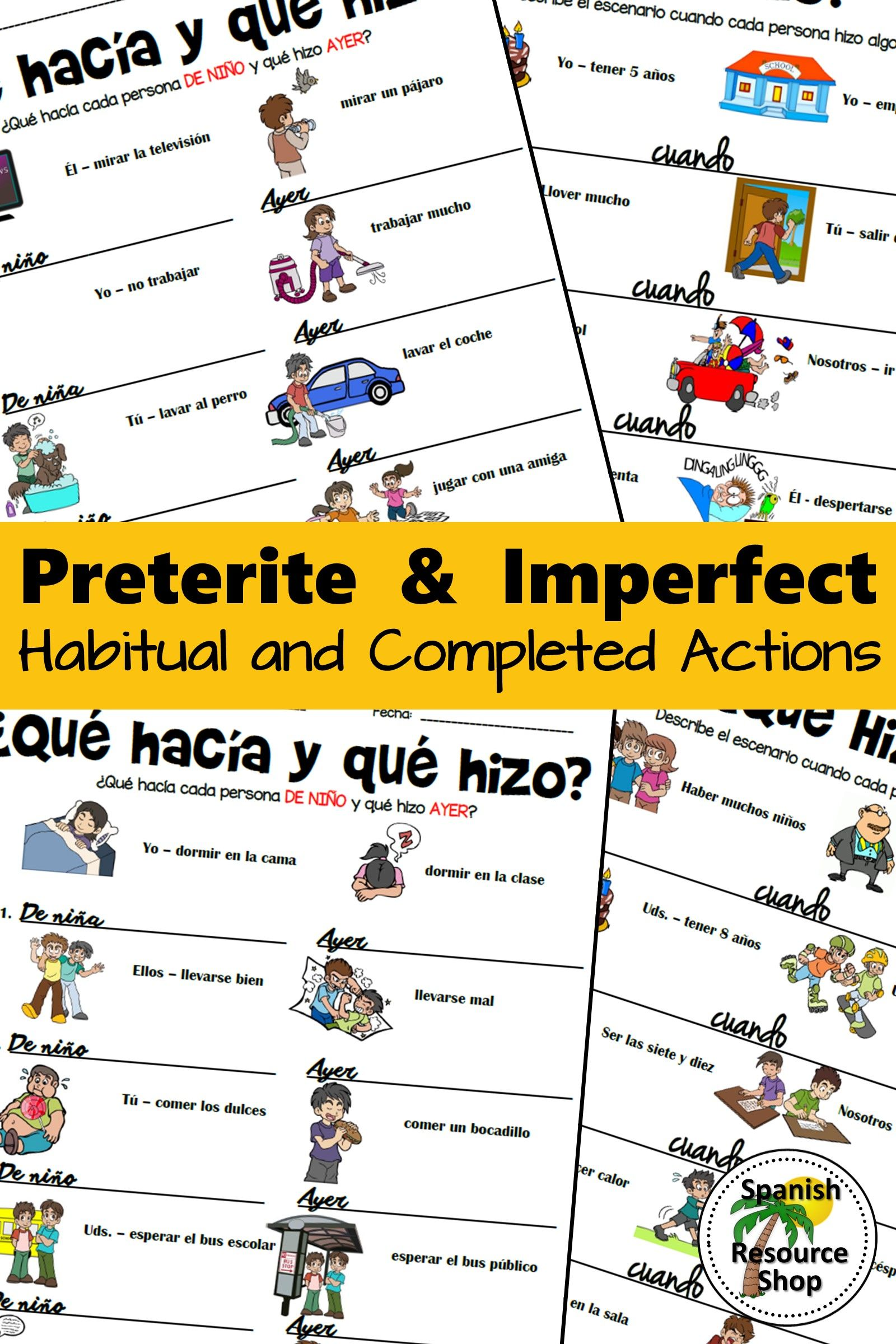 Spanish Preterite And Imperfect Habitual And Completed