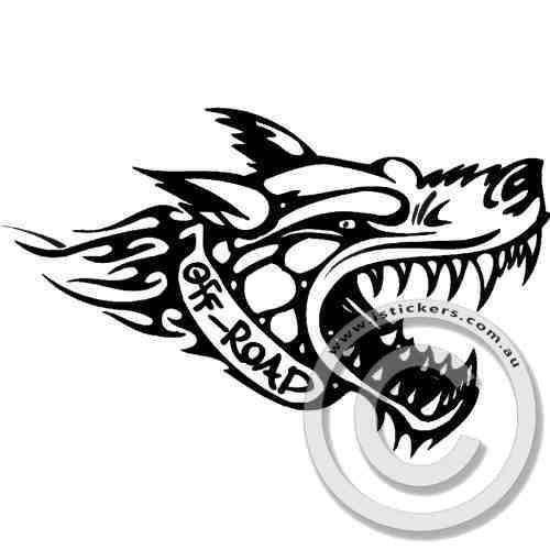 Off-road Wolf #DecalStickers #VinylStickers #BumperStickers #CarStickers #VinylDecalStickers #Stickers #Decals