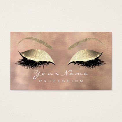 Makeup eyebrow lashes extension glitter rose linen business card makeup eyebrow lashes extension glitter rose linen business card reheart Image collections