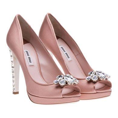 9fae9b4a126d7 Miu Miu Peep-Toes  Satin open-toe platform pump Swarovski ornament on front  115mm heel  1,100.00
