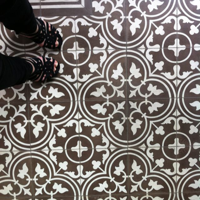 Superb Vintage Floor Tile Pattern At The Peranakan Place In Emerald Hill, Singapore