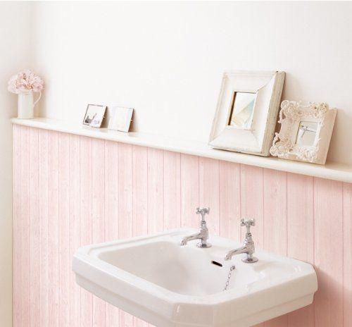 decowall hwn22319 pink wood grain panel effect self