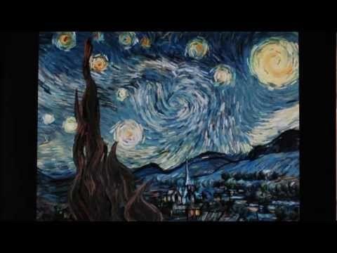 Digital artist Petros Vrellis created an interactive version of Vincent van Gogh's Starry Night