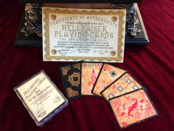 Hellraiser playing cards horror themed by FairyTaleNightmares