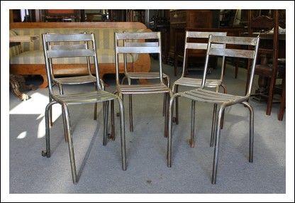 Sedie Industriali ~ Gruppo n. sei sedie industriali in ferro vintage epoca 1940