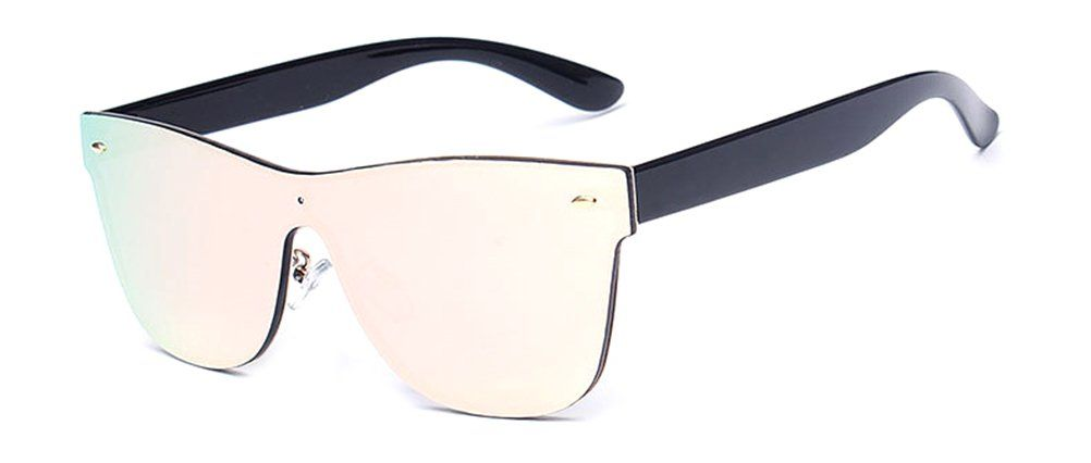 b11f90823eb2 GAMT Rimless Wayfarer Sunglasses Futuristic Shield Mirrored Design Pink      More info could be found at the image url.-It is an affiliate link to  Amazon.