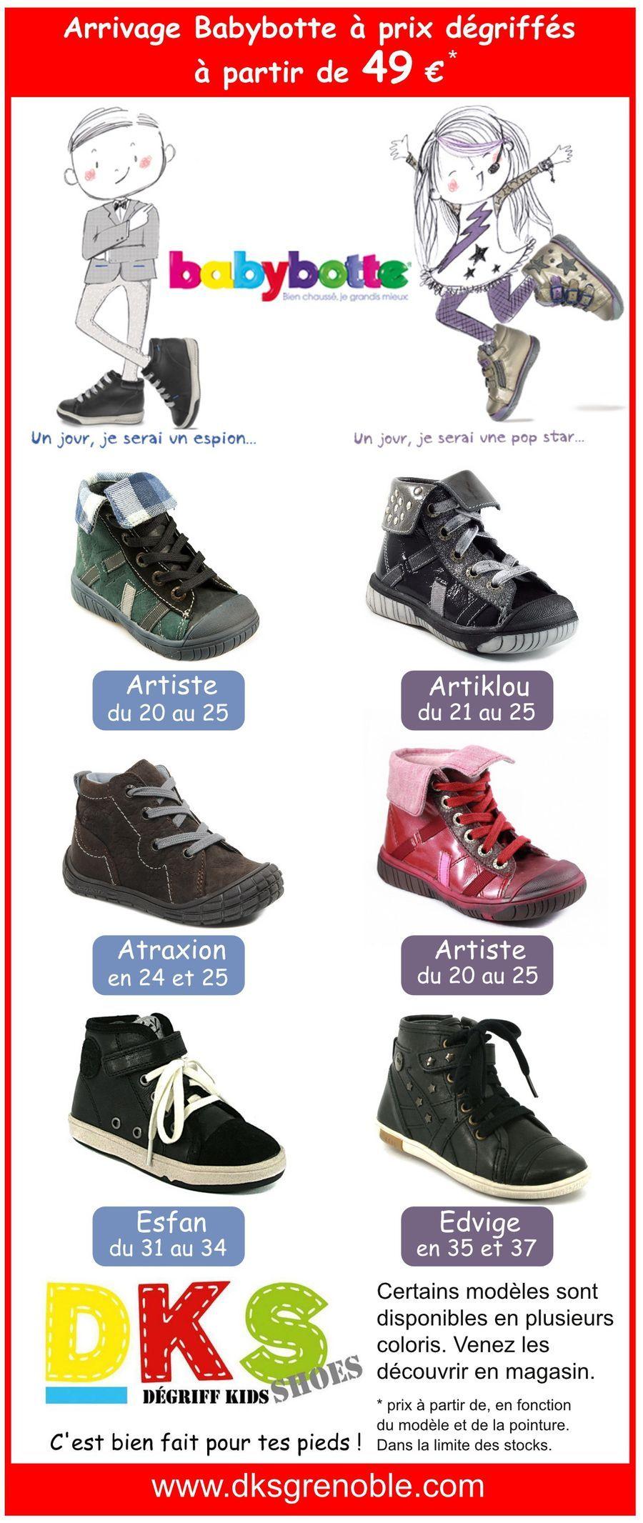 Arrivage de chaussures enfant BABYBOTTE à prix dégriffés. Fille et garçon  du 20 au 37 à partir de 49 € Certains modèles sont disponibles en plusieurs  ... 0d5bc3b9b045