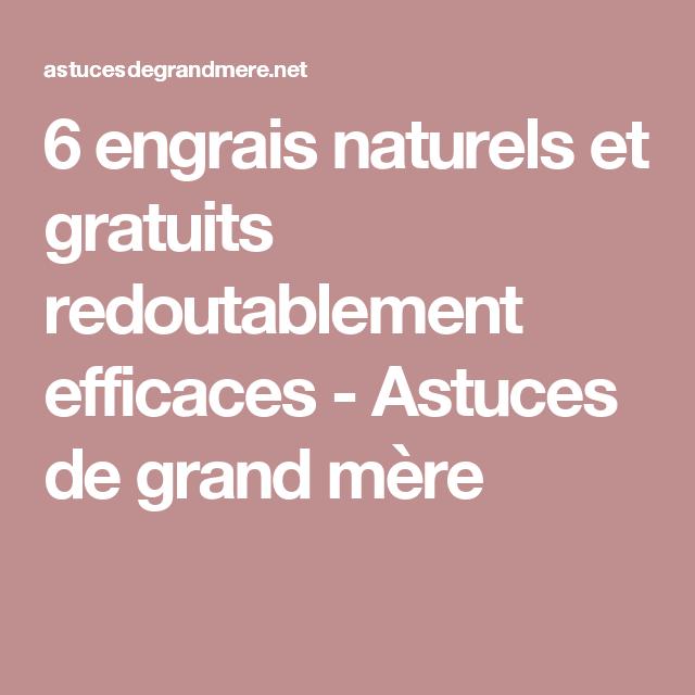 6 engrais naturels et gratuits redoutablement efficaces - Astuces de grand mère