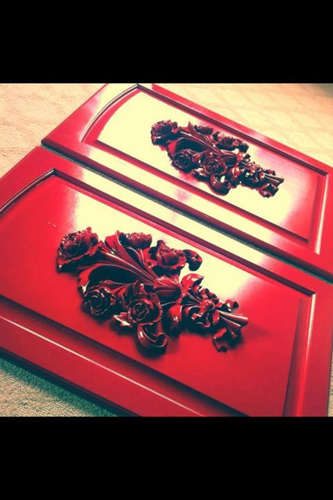 Custom Appliques for Kitchen Cabinet Doors by ...