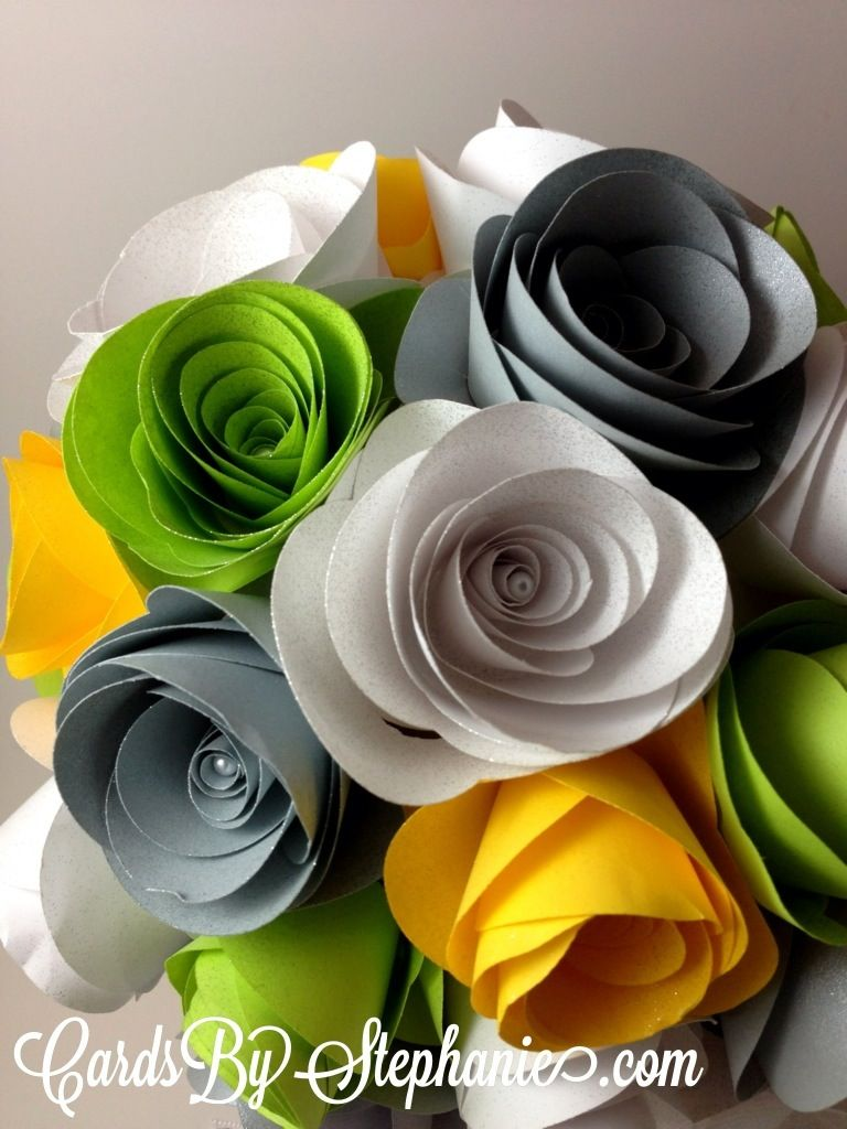 This Is My Wedding Bouquet I Made From Paper Flowers Using The