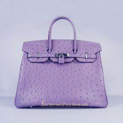 Sacs Hermès Pas Cher Birkin 35cm Ostrich Veins Sac Violet 6089 ... d3b50df41d5