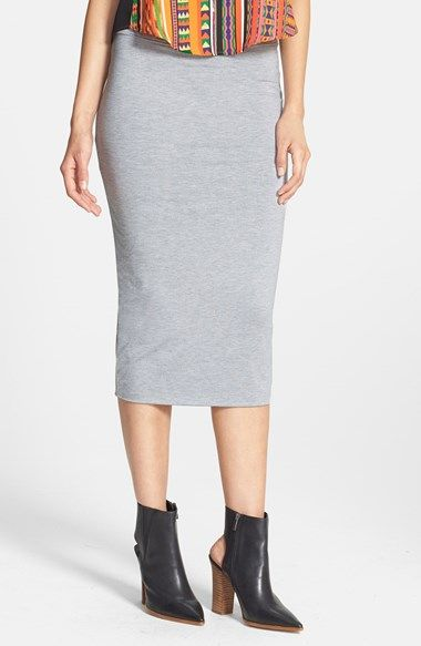ecc513e165 Leith High Waist Tube Midi Skirt available at #Nordstrom | What I ...