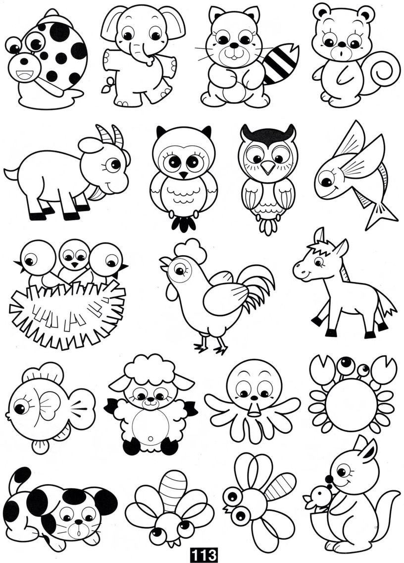 20 Animales Para Colorear In 2020 Scrapbook Patterns Drawing For Kids Coloring Books