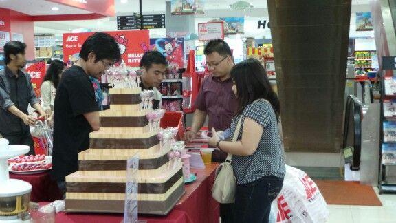 With customer