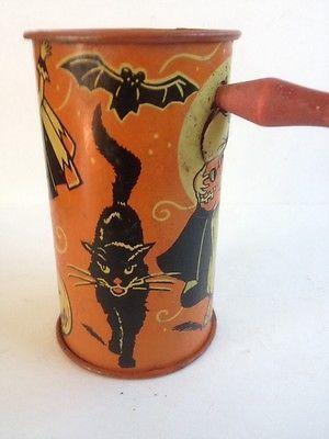 Vintage Halloween Kirchhof Noise Maker Noisemaker Witch Pumpkin Bat - vintage halloween decorations ebay